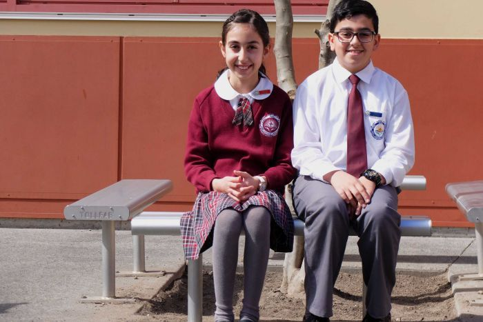 SCHOOL CAPTAINS MARY ANOYA AND RAMEL ZAIA SAY THEIR PARENTS FELD IRAQ BECAUSE OF CONFLICT.