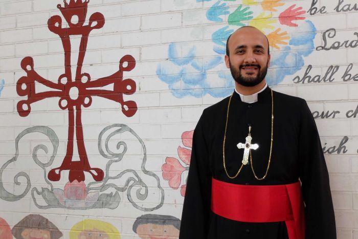 Mar Benyamin Elya , former St Hurmizd school chaplain